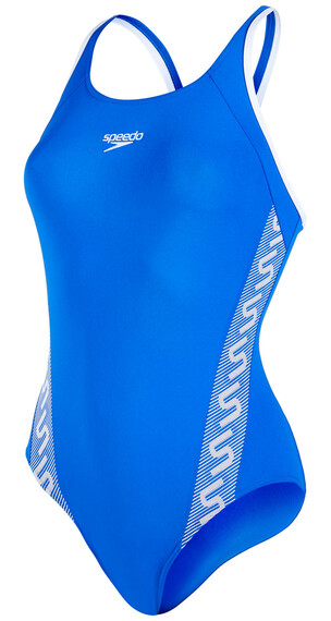speedo Endurance+ Monogram Muscleback Swimsuit Women deep peri/white